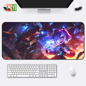 Image 5 - Hot Selling Game Oversized Mouse Mat Locking Anime Eating Chicken CF Athletic Thickening Table Mat Cute Office Anime Keyboard Ma