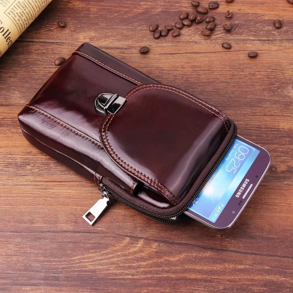 Waist Band Belt Genuine Cow Leather Mobile Phone Case For Galaxy S6 edge Plus/S7 edge/J7/J5/A8/A9/C9 Pro/ON8/ON5/J7 Max/J7 Pro