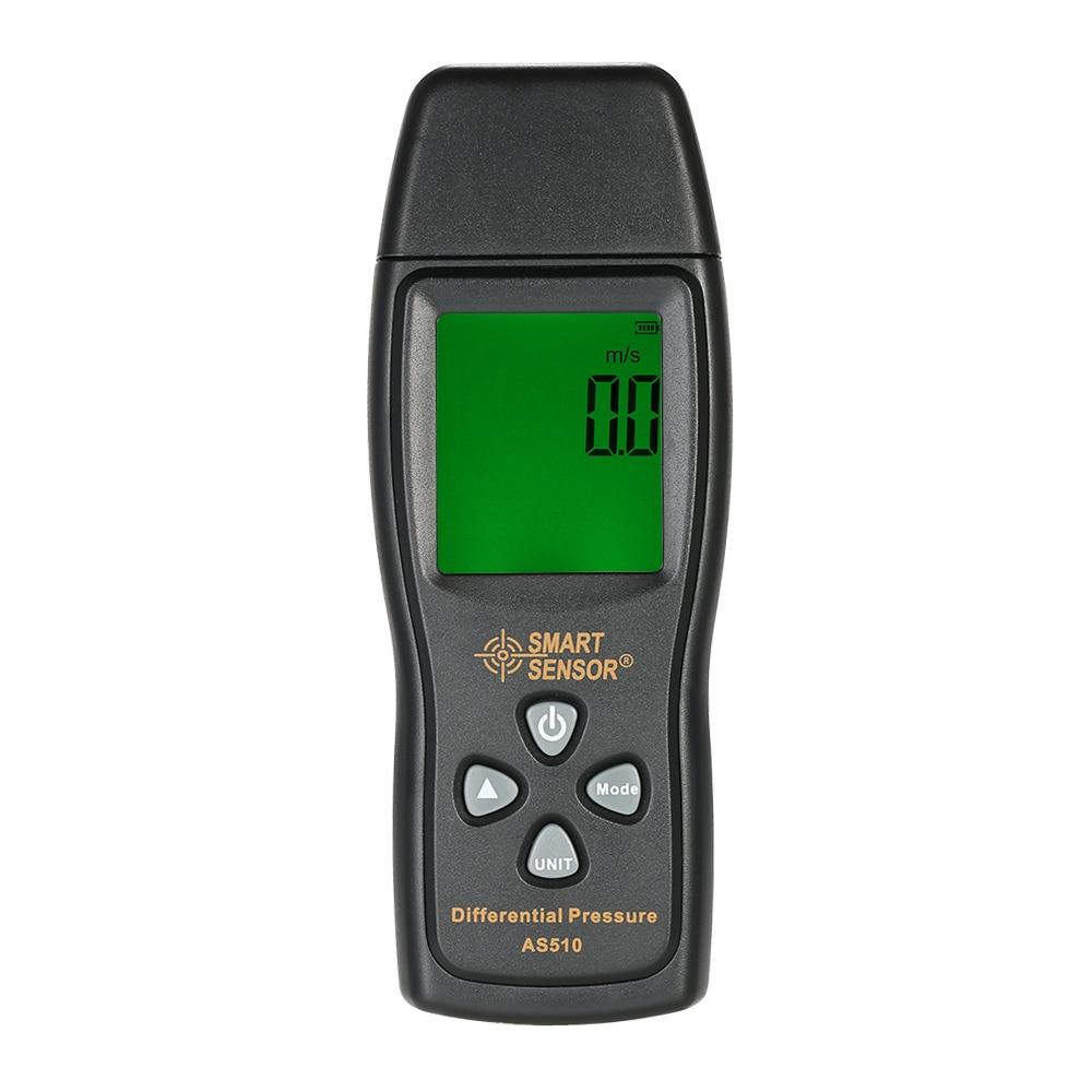 AS510 LCD air manometer pressure gauge Mini pressure differential meter digital pressure manometer Measuring Range 0