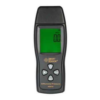 AS510 LCD air manometer pressure gauge Mini pressure differential meter digital pressure manometer Measuring Range 0~100hPa - DISCOUNT ITEM  32 OFF Tools
