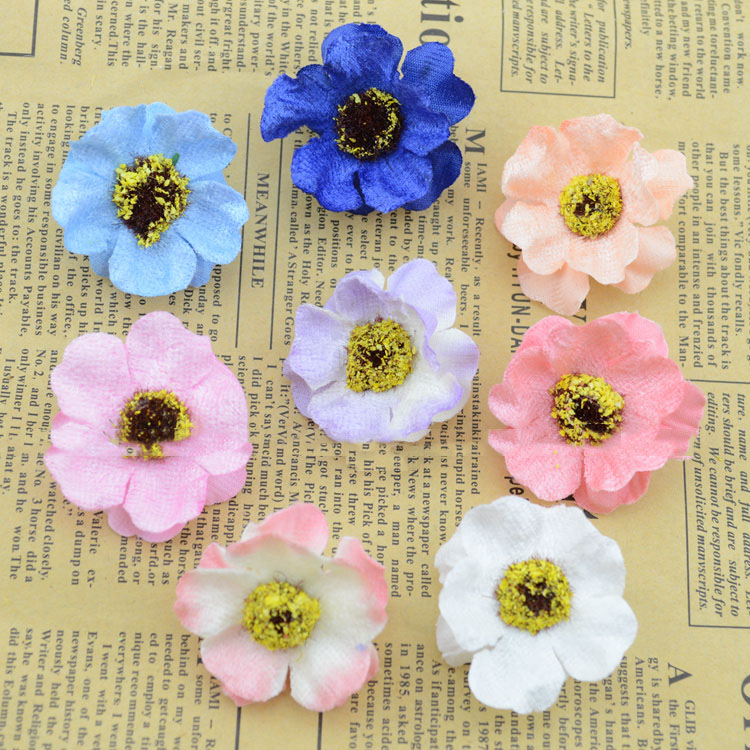 Artificial flowers good simulation flower head felt cherry plum silk artificial flowers good simulation flower head felt cherry plum silk flower corsage flower garland handmade diy materials wholes in artificial dried mightylinksfo Choice Image