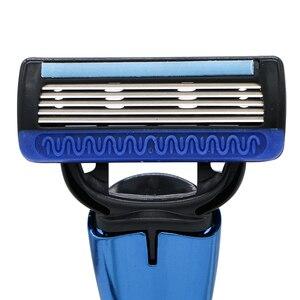 Image 2 - ماكينة حلاقة هاورد 20 خراطيش 5 طبقات بديلة شفرة حلاقة هدية مقبض حلاقة تستخدم للحلاقة للرجال وإزالة الشعر للنساء
