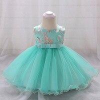 3129 Petal Embroidery Toddler Princess Party Girls Dress A Line Tutu Kids Dresses For Girls Wholesale