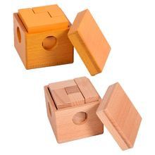 Premium New 1Set Boxed Cube Soma Cubes Adult Elm Wooden Blocks Toy