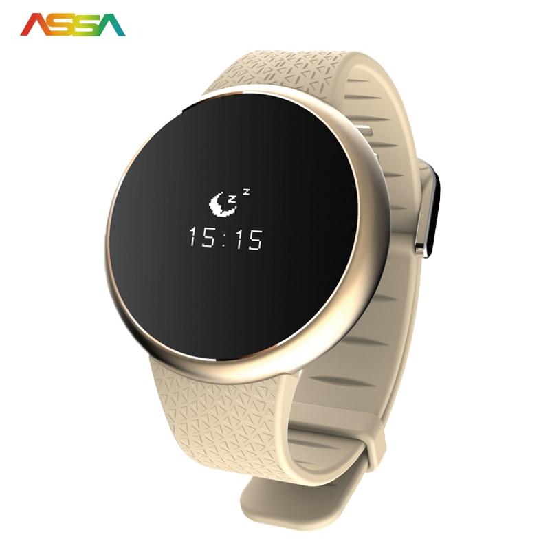 imágenes para Los Hombres del deporte del Reloj Inteligente Bluetooth Heart Rate Monitor de Sangre Prssure Impermeable Gimnasio Rastreador Smartwatch Para Android IOS Teléfono
