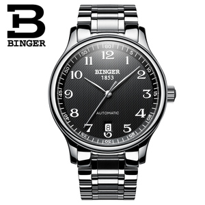 Image 4 - New BINGER Brand Luxury Automatic Mechanical Men Watch Sapphire Watches Male Military Relogio Waterproof Mens Watches BG 0379 2