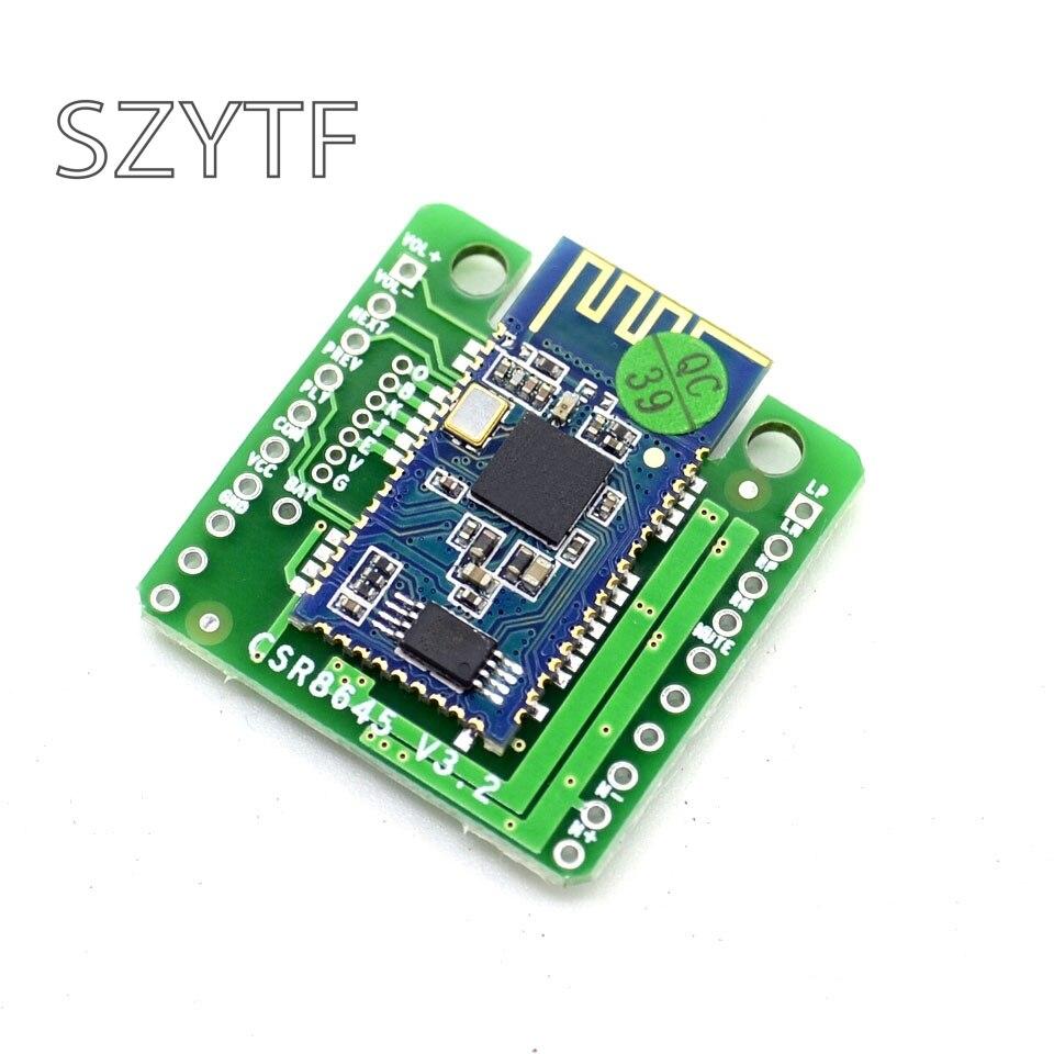 Bluetooth módulo amplificador de energía de 4,0 receptor de Audio CSR8645 APTX Dual 5 W altavoz amplificador de Audio sin pérdidas banda FUNCIÓN DE HABLAR