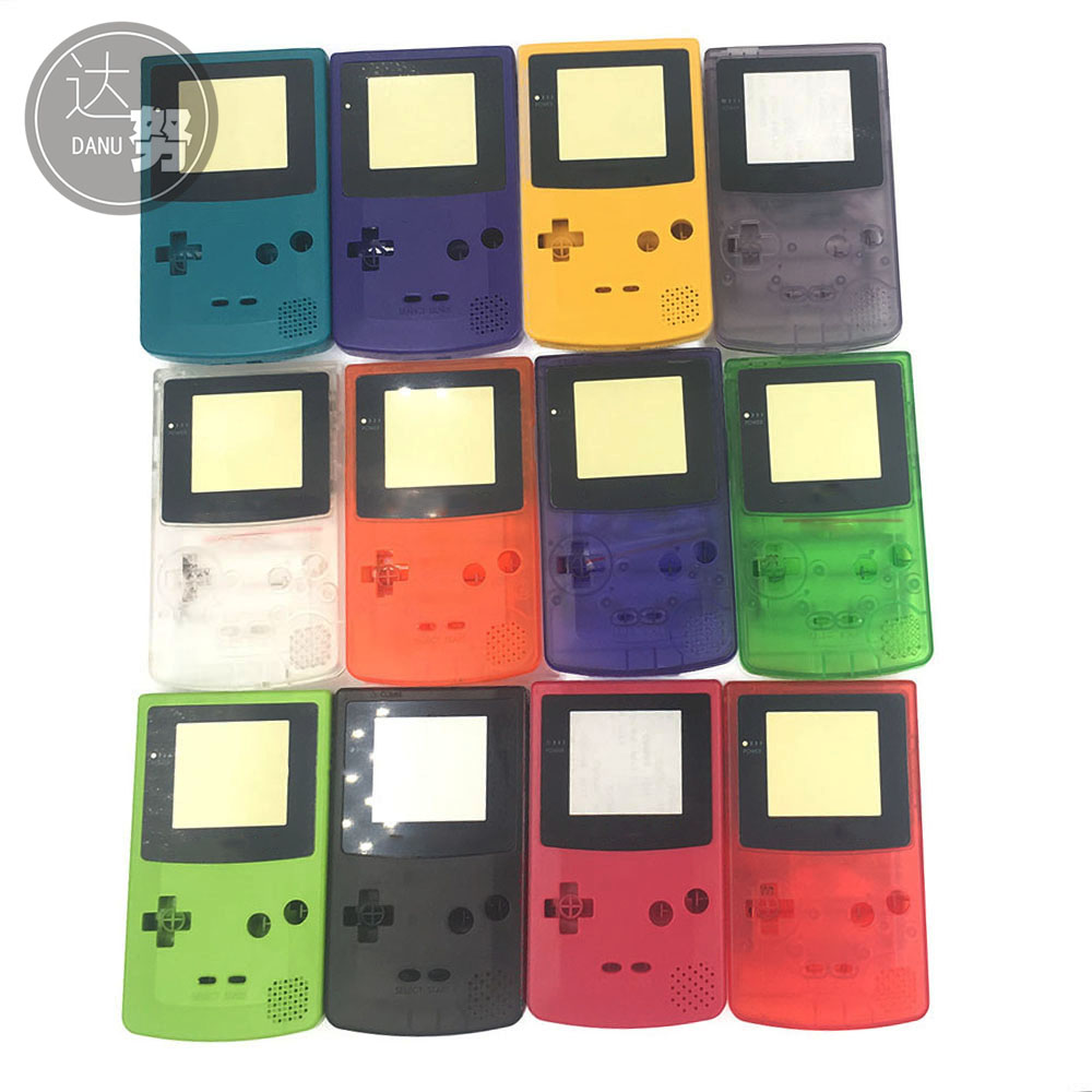 New Full Housing Shell Cover for Nintendo Game boy Color GBC  Repair Part Housing Shell Pack [50set lot] for nintendo gameboy series game cartridge housing shell replacing cover case for gb gbc gba sp