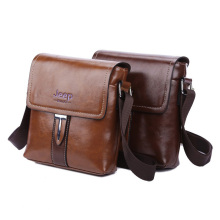 New 2016 Famous Brand Men PU Leather Shoulder Bag High Quality Male Fashion Messenger Bags Brown crossbody Bags For Men JEEPA186