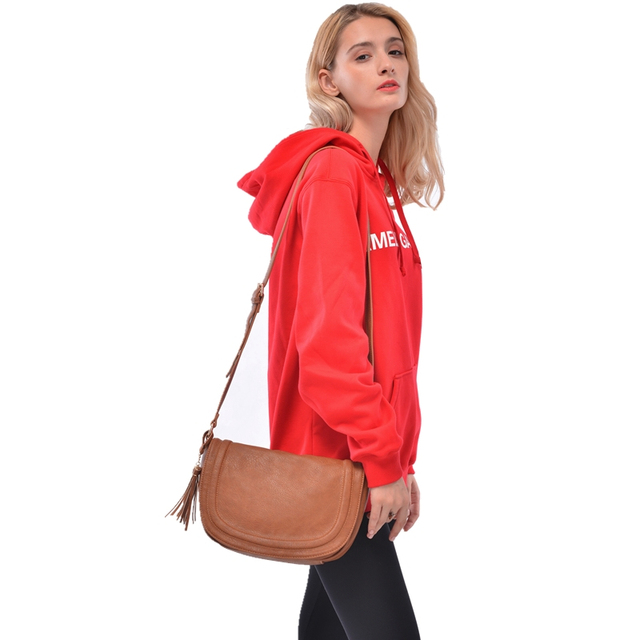 AMELIE GALANTI Leather Crossbody bags for women 2018 bag new elegant shoulder bag Women Multi Pocket Tote Purse Handbag Shoulder Bags