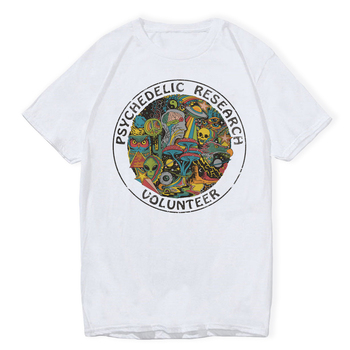 LettBao Psychedelic Research Volunteer Boys T-shirts Cartoon Mens Tshirt Summer White Fashion White Hip Hop T Shirt Funny Top 1