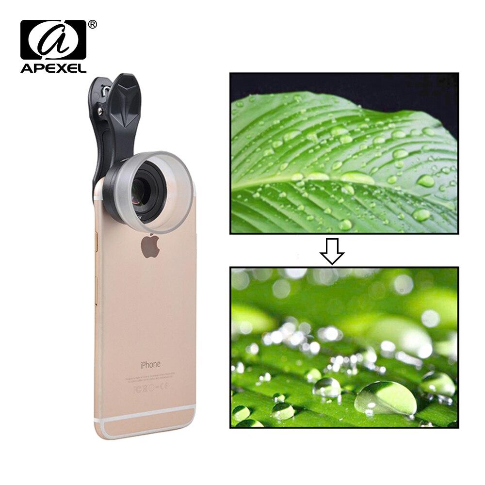 Цена за Apexel 25 мм супер Макросъемка объектив detechable 10X Супер Макро линзы с Универсальный зажим для Samsung S8 плюс Xiaomi IOS