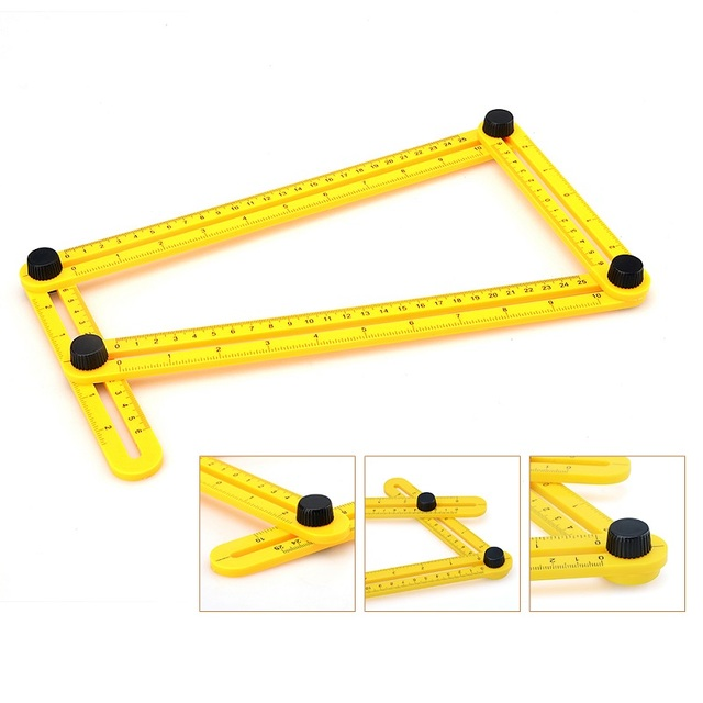 new measuring instrument angle rulers template tool four sided ruler mechanism slides p10