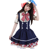 Japanese Anime Love Live Nico Cosplay Tojo Nozomi Cosplay Candy Maid Uniform Costume Princess Lolita Dress