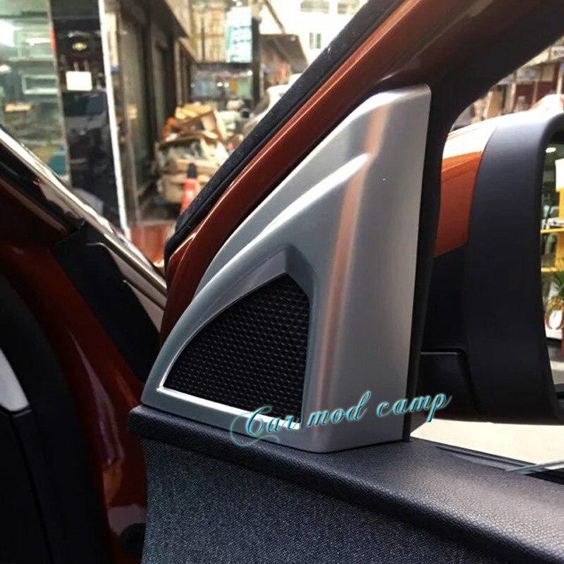 2pcs ABS Matte font b Interior b font font b Car b font Door Stereo Speaker