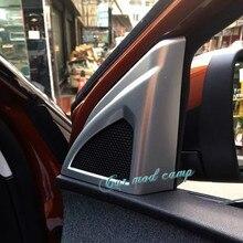 2 шт. ABS Матовый интерьера двери автомобиля стерео Динамик Обложка украшения отделка для Peugeot 5008 2017 автомобилей Средства для укладки волос!