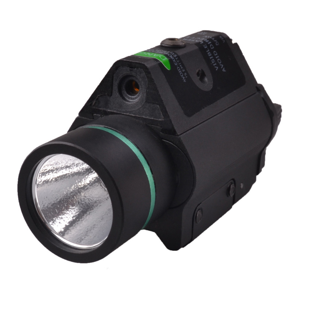 2016 RichFire SF-P14 Tactical Pistol 5mw Green Laser Stroboscopic LED Flashlight CREE XR-E Q5  Balck singfire sf p04 tactical pistol 5mw green laser stroboscopic led flashlight cree xr e q5 250lm balck