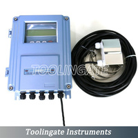 TDS-100F ultrasonic liquid flowmeters with S2 Transducer (DN15mm-100mm) wall-mount Outside the clip-on flow meter