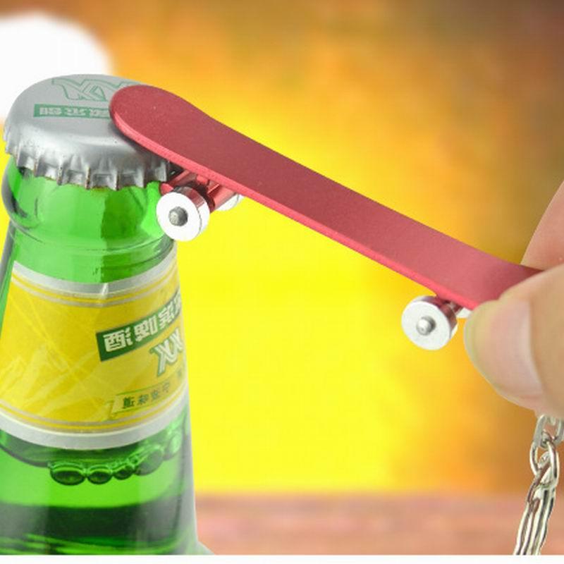 200pcs-Multifunction-Outdoor-EDC-Openner-Adorable-Skateboard-Metal-Bottle-Opener-Keychain-Keyring-Beer-Bar-Tool-Xmas