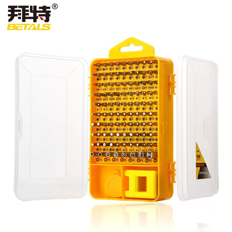 108 piezas de destornillador de precisión conjuntos de mangas de destornillador multifunción computadora CR-V teléfono móvil digital herramientas de reparación esenciales
