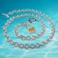 Сплошной подлинная женщины замок ожерелье, 925 чистого серебро ювелирные изделия, Леди в серебро ожерелье