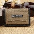RU & BR Bolsa de Lona carteira de Design da Carteira Dos Homens Novos Estudantes de Moda Letra Pequena Qualidade Superior Homens Carteira Carteira de Embreagem Titular do cartão