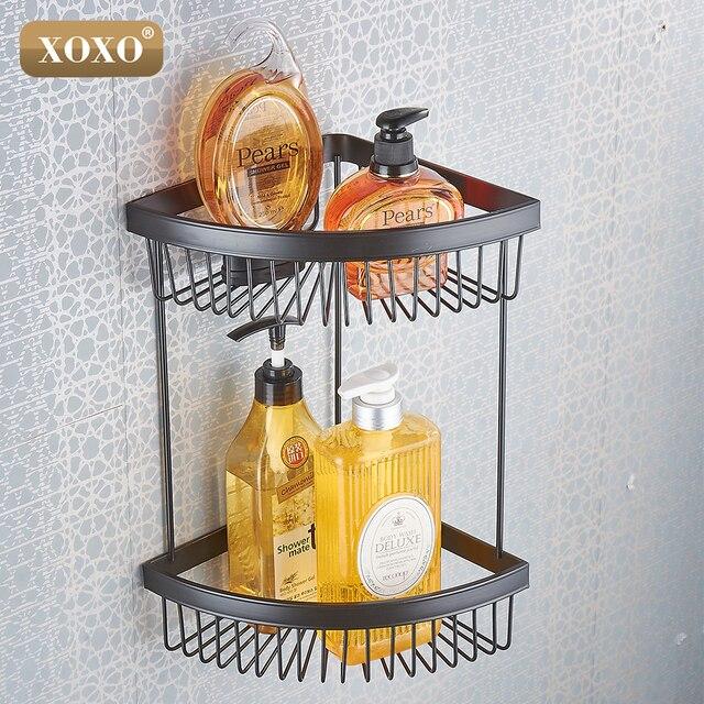XOXODual Zweck Punch Und Paste, Kupfer Regal Badezimmerkorb Doppel Bad  Regale 21032