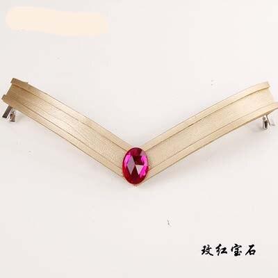 Сейлор Мун 9 цветов Лоб V реквизит и Usagi Tsukino Луна тростник мощность палочка - Цвет: As character