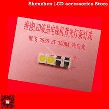 300 PCS/Lot pour lentretien Konka Skyworth Changhong LED LCD TV rétro éclairage lumières avec ju fei 2835 SMD lampe perles 3 V