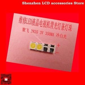 Image 1 - 300PCS/Lot FOR  Maintenance Konka Skyworth Changhong LED LCD TV backlight lights with Ju fei 2835 SMD lamp beads 3V