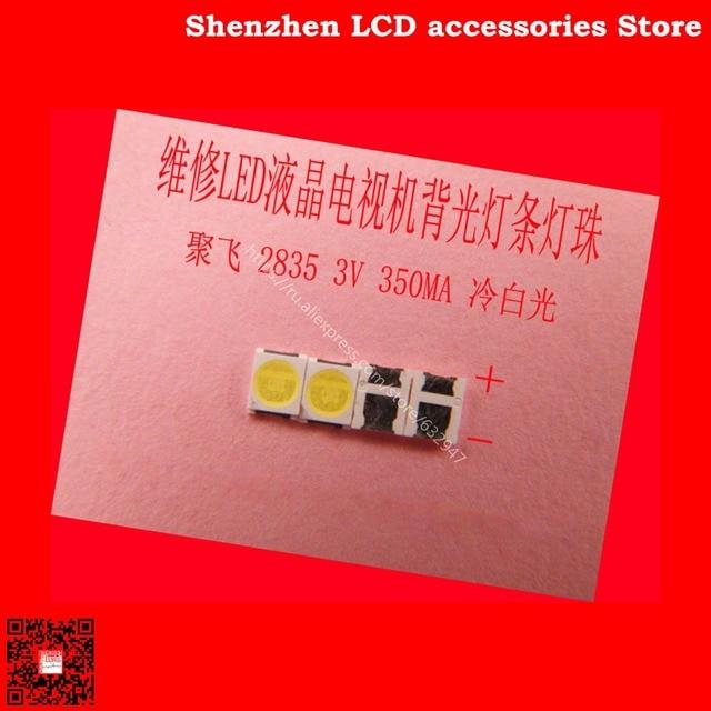300PCS/Lot FOR  Maintenance Konka Skyworth Changhong LED LCD TV backlight lights with Ju fei 2835 SMD lamp beads 3V