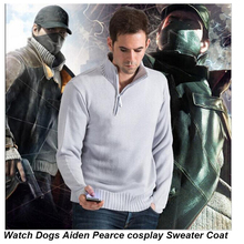Watch Dogs Aiden Pearce Cosplay Pullover Cotton Hoodie Long Sleeve Coat Men Sweatshirts Halloween Christmas Casual Warm Sweater