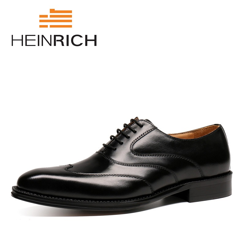 HEINRICH Spring/Autumn Brand Business Dress Men Formal Shoes Male Wedding Pointed Toe Shoes Fashion Leather Oxford Men Shoes npezkgc brand high quality men oxford men leather dress shoes fashion business men shoes men dress pointed shoes wedding shoes