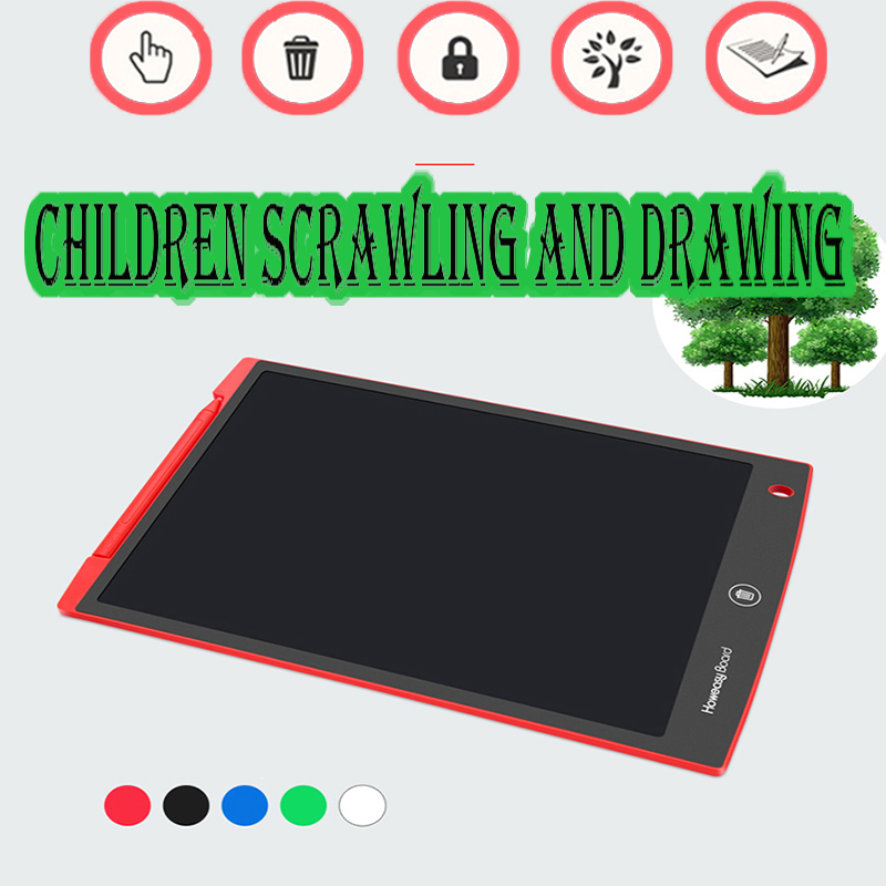 12 Inch LCD Writing Tablet Digital Drawing Tablet Smart Handwriting Pads Portable Graphics Message Business Affairs Doodling
