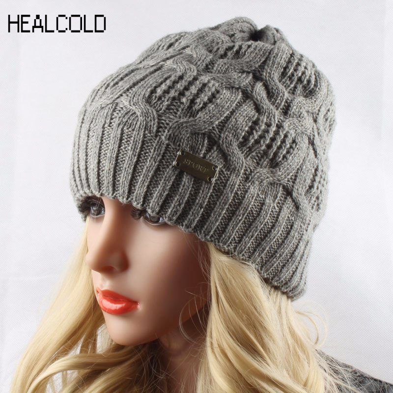 Spring Winter Hats For Women 30% Wool Knitted Hat Women Outdoor Sport   Skullies     Beanies   Casual Women's Cap