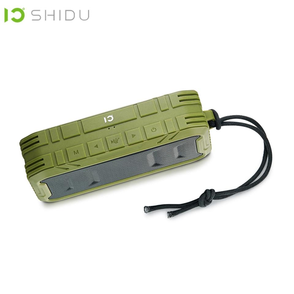 SHIDU IPX5 Ao Ar Livre Portátil À Prova D' Água Sem Fio Bluetooth 4.2 Speaker Subwoofer Bass Stereo Surround Altifalante P5 AUX Com MICROFONE