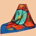 "uajun || new color synchronous brand scarf ""Springs"" 90 silk scarf 100% mulberry silk twill silk scarf printing shawl"