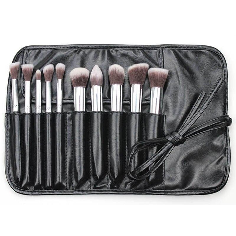 10pcs Mini Professional Soft Cosmetic Make Up Brush Set Woman's Toiletry Kit Beauty Makeup Brushes Kabuki Blush Brush