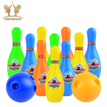 Leisure Indoor Exercise Toys Mini Bowling Kids Games Set Interaction For Children Party Child Sport