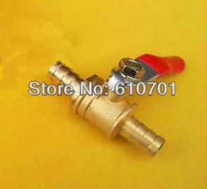 Fittings 6 x 6mm 8 x 8mm 10 x 10mm Hose Barb x Hose Barb Full Ports Connection Plumbing Brass Ball Valve Two Way Air Water Gas
