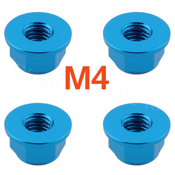 RC Wheels Nylon Lock Nut M4 Flanged For HPI RS4 Drift Models Racing Car image