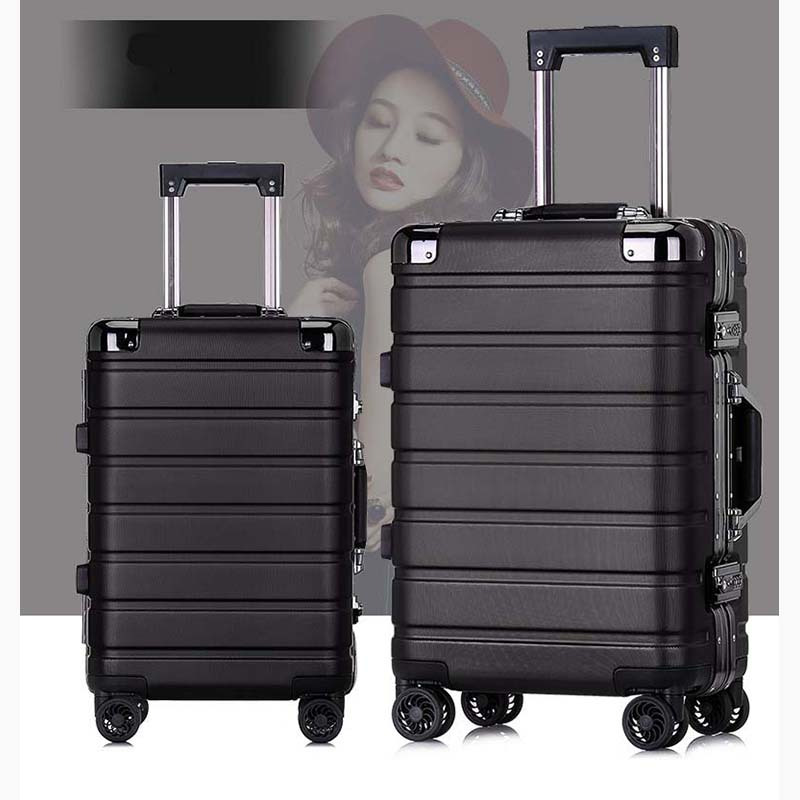 BeaSumore Ultralight business Aluminum frame Rolling Luggage Spinner 20 inch Cabin Suitcase Wheels Travel Bag Men