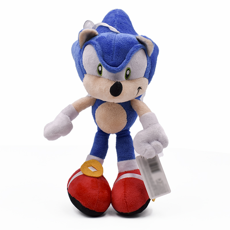 Kawaii 27cm Blue Sonic Plush Toy Cartoon Anime Hedgehog Dolls Peluche Toys Gift For Kid's Christmas Free Shipping