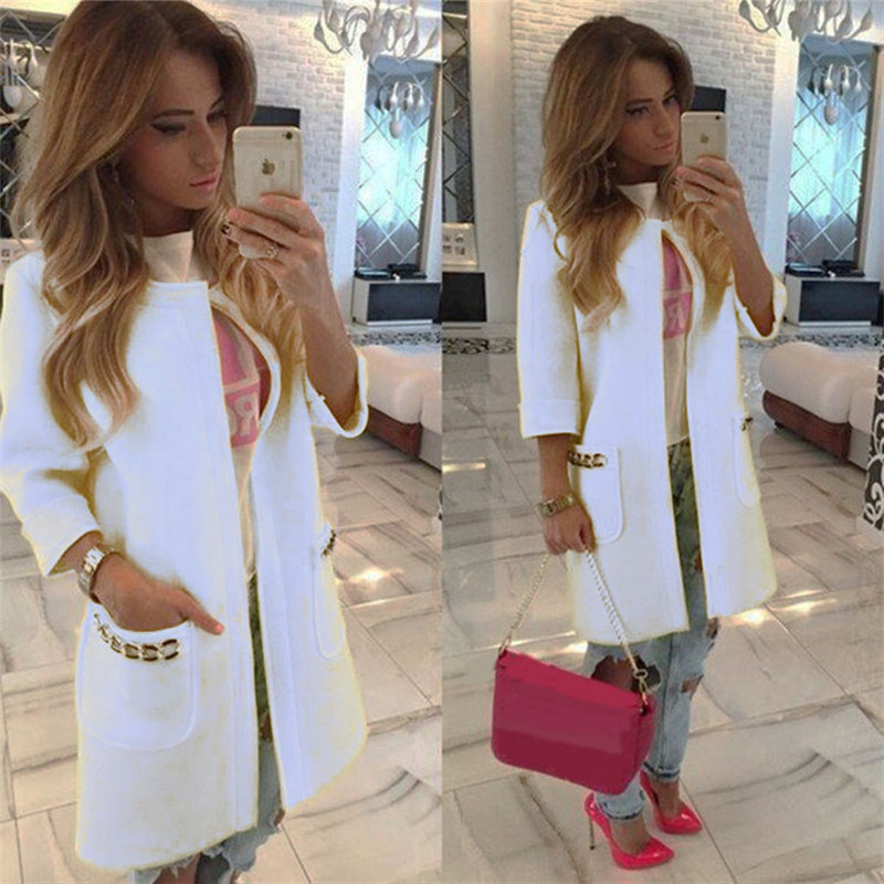 2017 New Brand Women's Long Sleeve Knitted Cardigan Loose Outwear Coat lady fashion Winter Trench 5 Colors