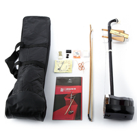 New Erhu Chinese Musical Instrument Two Strings Violin fiddle Round Pole Hexagonal Shape With Bag