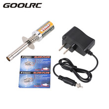 Nitro Starter Kit Glow Plug Igniter w Battery Charger 2Pcs N4 Glow Plug Combo for RedCat Nitro Powered 1/8 1/10 RC Car(China)