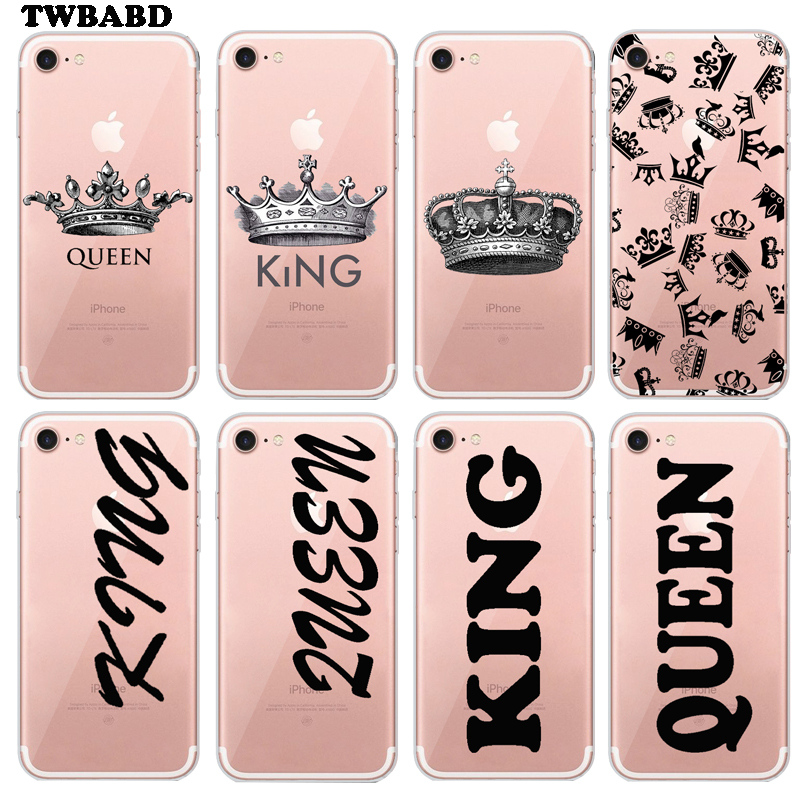 Queen King Crown cover for font b iPhone b font 7 case font b 2018 b