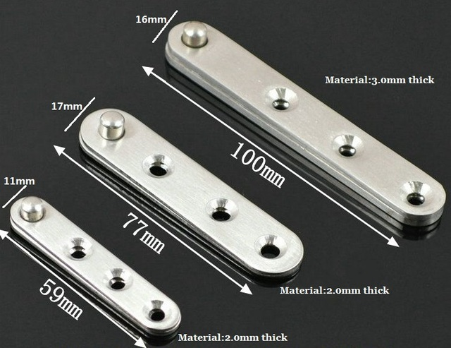 80Pcs/Lot 59mm Stainless Steel 360 Degree Pivot Hinge Knife Hinges Inset  Patch Fittings