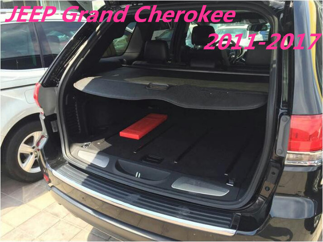car rear trunk security shield shade cargo cover for jeep grand cherokee 2011 2012 2013 2014. Black Bedroom Furniture Sets. Home Design Ideas