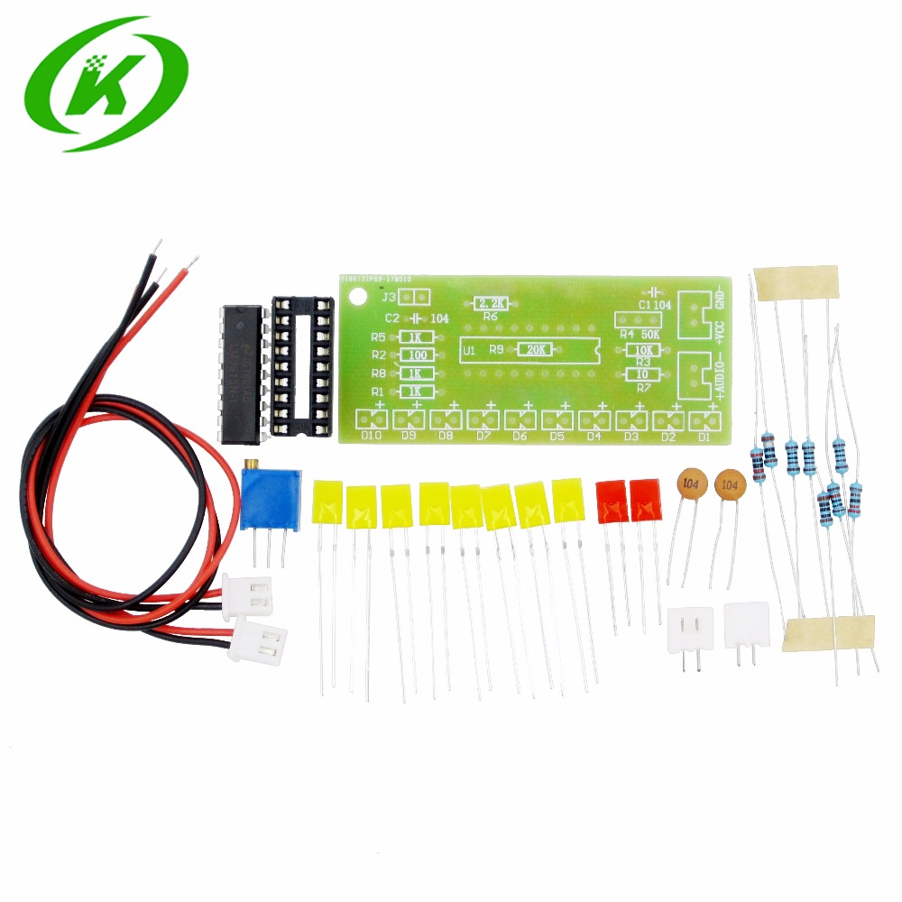 1 PCS Electronic diy kit LM3915 Audio Level Indicator DIY Kit Electronic Production Suite Good keyes kt0044 electronic blocks kit
